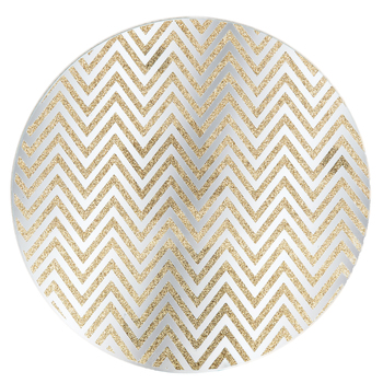 Chevron Candle Plate
